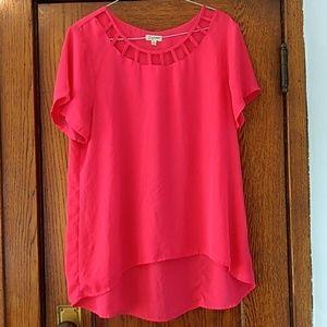 Deep pink dressy shirt